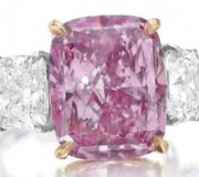 10.8 million dollar pink diamond - photo courtesy of Sotheby's