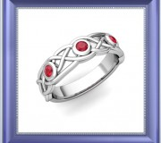 Celtic Knot Ring with Ruby, My Love Wedding Ring