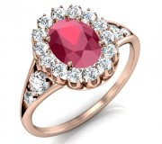 Custom made ruby engagement ring at my love wedding ring